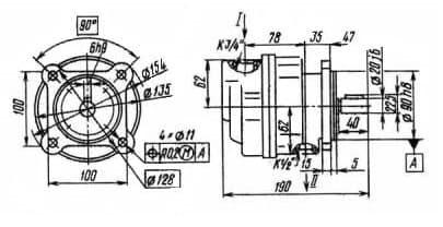 Пластинчатый Насос Г12-31АМ, Г12-31М, Г12-32АМ, Г12-32М, Г12-33АМ, Г12-33М габариты
