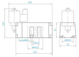 Пневмораспределитель 5Р2 габаритные размеры 1