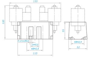 Пневмораспределитель 5Р2 габаритные размеры 2